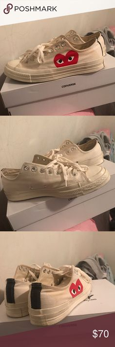 d613463d22c CDG converse White comme des garcons low top converse size 9 Has signs of  wear contact 3013286582 before buying Comme des Garcons Shoes Sneakers