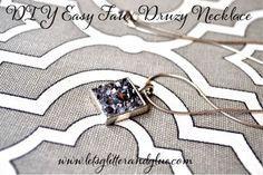 DIY Easy Faux Druzy Necklace #DIY #druzy #necklace www.letsglitterandglue.com