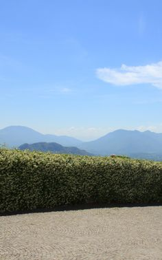 View of the mountains from Monte Cassino Abbey, Ciociaria, Italy