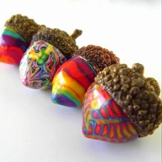 Acorns  Art and therapy! Beautiful...