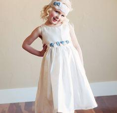 Girl's Shantung Satin Dress And Headband from notonthehighstreet.com