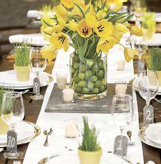 ChicDecó: Decorar mesas con flores cuadros adornan con flores