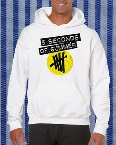5 Second Of Summer logo Hoodie unisex adults Size S to 2XL