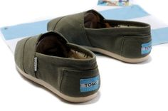 Men Army Green Army Canvas Toms Shoe Outlet