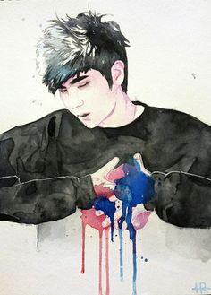 Leo Watercolor Fanart | credit to owner