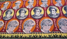 Commemorative cloth with photographic portraits of Princess Diana: Africa, Southern Africa, Mozambique, 1994-2000.