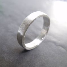 Shoply.com - wide Hogart - 4 mm sterling silver matte  ring Jewelry. Only £87.00