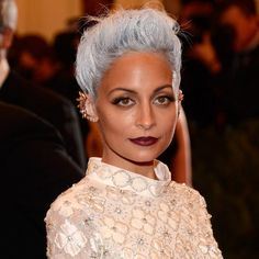 Nicole Richie wearing Mini Pave Diamond Studs in White Gold by Dana Rebecca