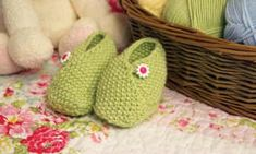 Looking for a project to complete over Easter? Beautifully soft and practical baby yarn is used to create these sweet little wrap over style shoes which can be completed in an evening Baby Slippers, Knitted Slippers, Baby Socks, Baby Hats, Knitted Dolls, Baby Shoes Pattern, Baby Patterns, Knitting Patterns Uk, Crochet Patterns