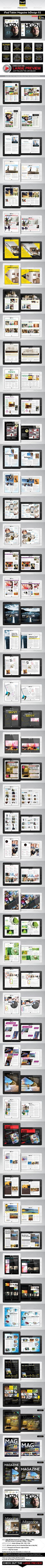 iPad/Tablet Magazine InDesign Layout 02 - Digital Magazines ePublishing