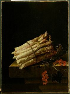 Adriaen Coorte - Still-Life with Asparagus and spray of redcurrants