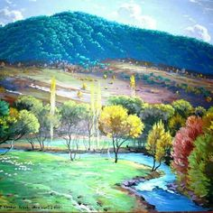 Ahmet YAKUPOĞLU Golf Courses, Mountains, Oil Paintings, Karma, Nature, Colors, Naturaleza, Oil On Canvas, Nature Illustration