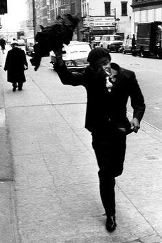 Hugh Masekela has found his raincoat NY 1966 Hugh Masekela, Fortune Magazine, White Balance, Palermo, Masters, Raincoat, Guy, United States, Black And White