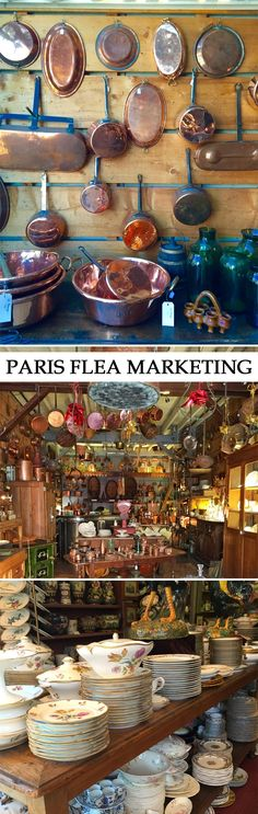 Shopping the Paris Flea Market #Fleamarkets
