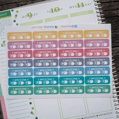 28 Medicine Tracker (M/D/N) Sticker Planner // Perfect for ECLP by FasyShop on Etsy
