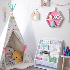 More of the nursery makeover reveal! How gorgeous is this custom confetti teepee by @billybuttonaustralia? Tap for supplier details. #whitefoxstyling