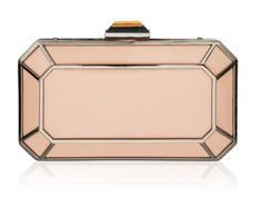 Amber 1920's Style Deco Clutch in Dusky Pink