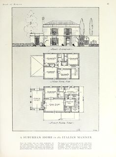 House and Garden House book: contains … Source by Daxalexandre Vintage House Plans, Vintage Houses, Raised Bed Garden Design, Georgian Homes, Old Houses, Small Houses, Witch House, Residential Architecture, House Floor Plans