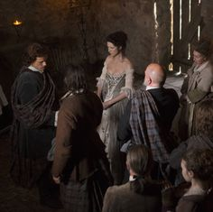 New Wedding Stills from Outlander on Starz with Jamie Fraser (Sam Heughan) and Claire Randall (Caitriona Balfe) via http://www.outlandertvnews.com/