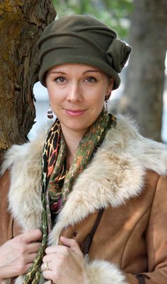 Ingrid Wool Cloche Hat by Parkhurst Hats of Canada. Women's Fall Fashion Hat that is also great for cancer patients.