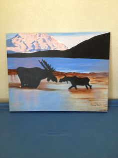 Moose first kiss acrylic