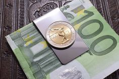 This listing is for a stylish Handmade Coin Money Clip, featuring a Commemorative Olympic Games 2 Euro Coin, on a stainless steel money clip. The Coin was created in honor of the Summer Olympic Games, held in Athens, Greece in Euro Coins, Silver Anniversary, Olympic Games, Michael Kors Watch, Money Clip, Olympics, Greece, Trending Outfits, Unique Jewelry