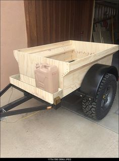 Mini Harbor Freight (type) Trailer Ultimate Build-Up Thread - Page 100 Bug Out Trailer, Kayak Trailer, Off Road Camper Trailer, Adventure Trailers, Small Trailer, Trailer Plans, Trailer Build, Cargo Trailers, Camper Trailers