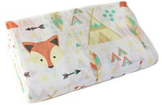 Amazon.com: 100% Organic Muslin Swaddle Blanket by ADDISON BELLE – Oversized 47 inches x 47 inches – Best Baby Shower Gift – Premium Receiving Blanket (Fox …