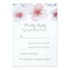 Watercolor Floral Wedding Invitation Suite | Tropical Papers | Watercolor Floral Garden Modern Wedding RSVP Cards