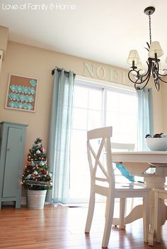 #Blue #Christmas -  I love the idea of decorating for Christmas, but still using my blue color scheme. Lots of pretty ideas for inspiration here.