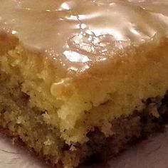 Honeybun cake recipe (make yellow cake from scratch)