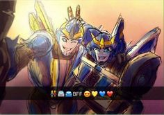 Gosh, I love finding fanart of these two! My favourite characters from TFP and RiD!