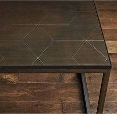 Metal Parquet Side Table Restoration Hardware  Playroom Or Perhaps Bonus  Room. Really Like These As Side Tables Or Two Together For A Coffee Table