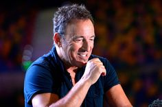 Bruce Springsteen Photos Photos - Bruce Springsteen speaks to the media during a sound-check ahead of the first show of his Wrecking Ball Tour at Brisbane Entertainment Centre on March 14, 2013 in Brisbane, Australia. - Bruce Springsteen Rehearses in Australia