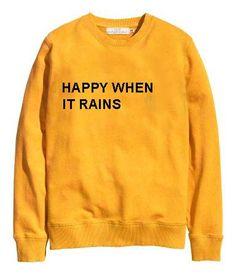 happy when it rains yellow color Unisex Sweatshirts