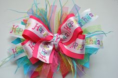 Birthday FUNKY Over the Top Boutique Bow