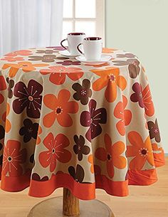 Duck Cotton Round Table Linens; 60 Inches Diameter 4 Seater ;Spring Decorations for Home; RTC01-6717 Swayam http://www.amazon.com/dp/B00X3RI5EU/ref=cm_sw_r_pi_dp_V7ZVvb0MVWPFK