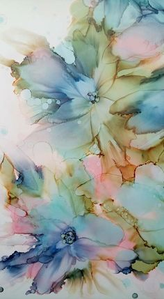 Alcohol Ink Tiles, Alcohol Ink Crafts, Alcohol Ink Painting, Abstract Watercolor, Watercolor Flowers, Watercolor Paintings, Watercolour, Silk Painting, Flower Art