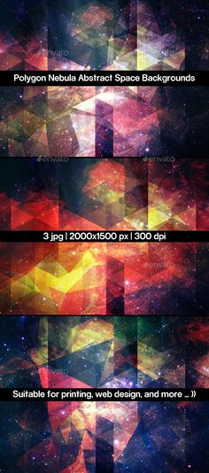 Polygon Nebula Abstract Space Backgrounds. Download here: http://graphicriver.net/item/polygon-nebula-abstract-space-backgrounds/11051972?ref=ksioks