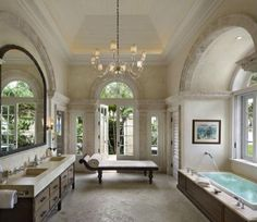 Concrete, Crown molding, Traditional, Limestone, French, Flat Panel, Inset, Double, Undermount, Master, Chandelier, Arched
