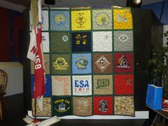 Boy Scout class b tshirt quilt.  assembled by www.tshirtquilt.com  highly recommend them!!!