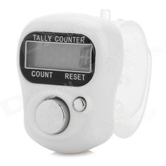 Brand: S-What; Model: SXH5136; Quantity: 1; Color: White + silver; Material: Plastic; Features: LCD display will count up to a maximum of '99999'; Wear on Index finger and use thumb to operate for single hand operation; Built-in AG10 battery (included); Packing List: 1 x Hand tally counter; http://j.mp/1uNUeSZ