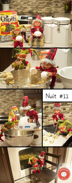 LA CHASSE AUX LUTINS DE NOËL : NUIT #11 – LES BISCUITS #2 Christmas Hacks, Christmas Elf, Elf On The Shelf, Le Blog De Vava, Elves, Table Decorations, Biscuits, Celebration, Holidays