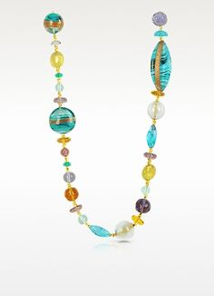 Antica Murrina Niagara - Long Murano Glass Necklace