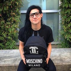 Skrillex and his Moschino Capsule Collection 16 backpack