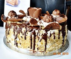 Tort festiv cu nuci Learn To Cook, Something Sweet, Tiramisu, Food And Drink, Ice Cream, Sweets, Cooking, Ethnic Recipes, Desserts