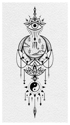 Dream Tattoos, Body Art Tattoos, Sleeve Tattoos, Tiny Tattoos For Girls, Tattoos For Women Small, Tattoo Sketches, Tattoo Drawings, Tattoo Chart, Scorpio Art