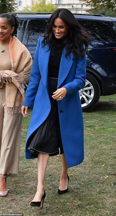 5bc5dfb36 Get Meghan Markle's look for less on Cyber Monday! Black Pleated SkirtMeghan  MarkleRoyaltyRoyals. The Duchess ...