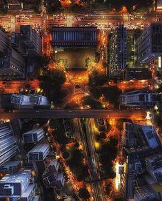 São Paulo from above at night Paulistano, Times Square, Skyline, Night, Street, City, Instagram, Places, Travel