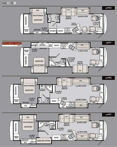 2011 Monaco Cayman Luxury Motorhome Floorplans